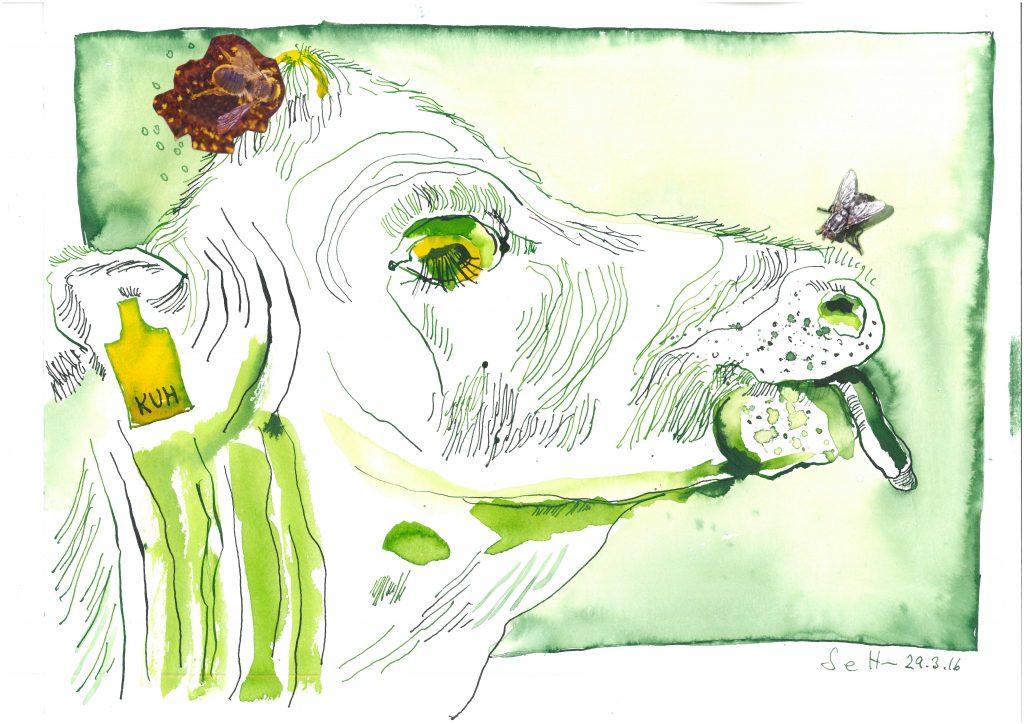 Die Fliege im Bild – schönster Künstlerscherz